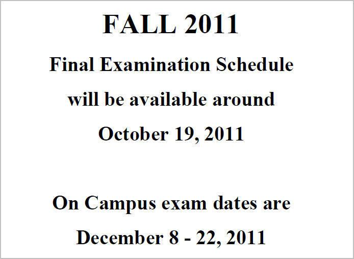 Final examination How do I view my oncampus final exam schedule Quest Student