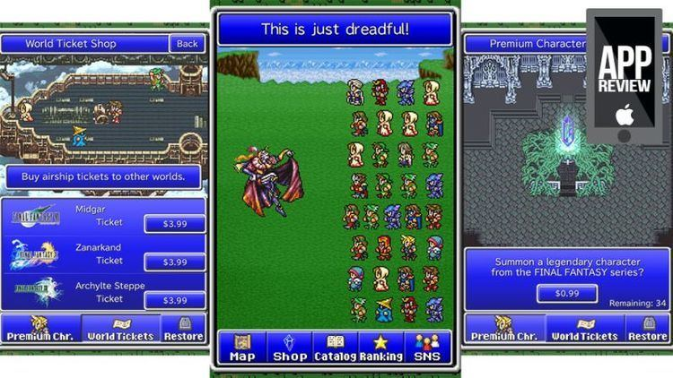 Final Fantasy All the Bravest Final Fantasy All the Bravest is 46 of InApp Purchases Looking