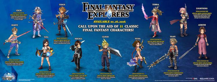 Final Fantasy Explorers Final Fantasy Explorers gaming news gaming reviews game trailers
