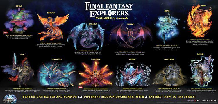 Final Fantasy Explorers Final Fantasy Explorers39 12 eidolons detailed Gematsu