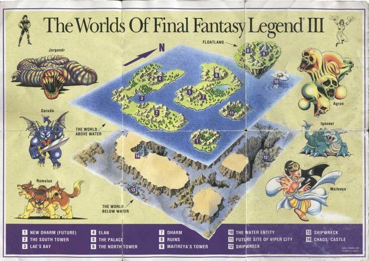 Final Fantasy Legend III Final Fantasy Legend III Maps The Final Fantasy