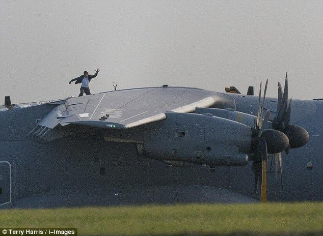 Final Mission (2013 film) movie scenes Tom Cruise filming scenes for new movie Mission Impossible 5 at RAF Wittering in