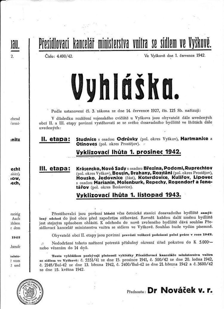 Final Solution of the Czech Question