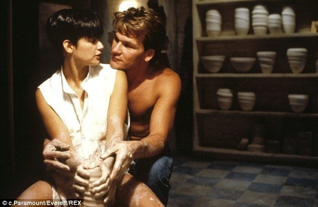 Fine Things (film) movie scenes Famous scene Demi Moore and Patrick Swayze as Molly and Sam Wheat in 1990 film