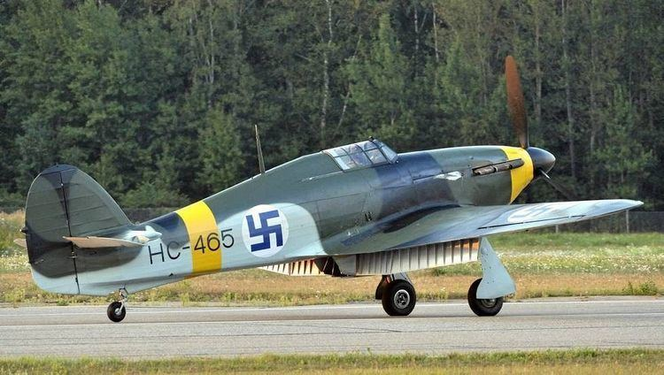 Finnish Air Force Fully restored British Hawker Hurricane in authentic Finnish
