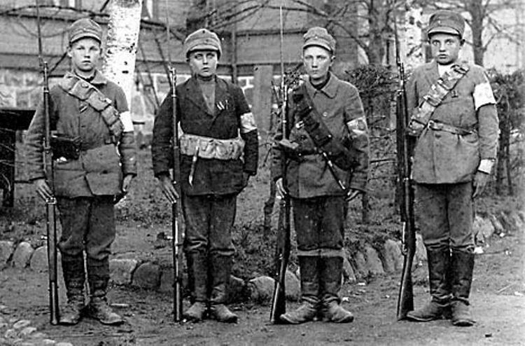 Finnish Civil War Child Soldiers During the Finnish Civil War both armies used
