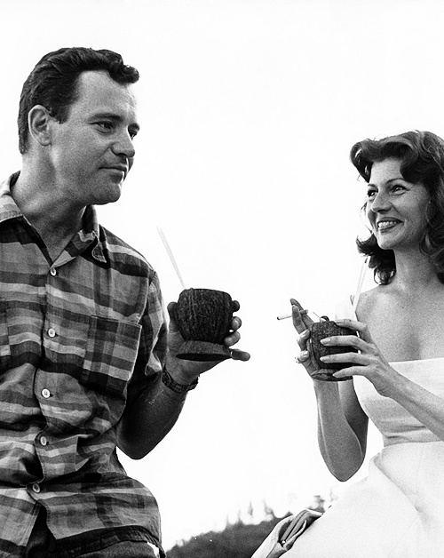 Fire Down Below (1957 film) Jack Lemmon and Rita Hayworth on the set of Fire Down Below 1957