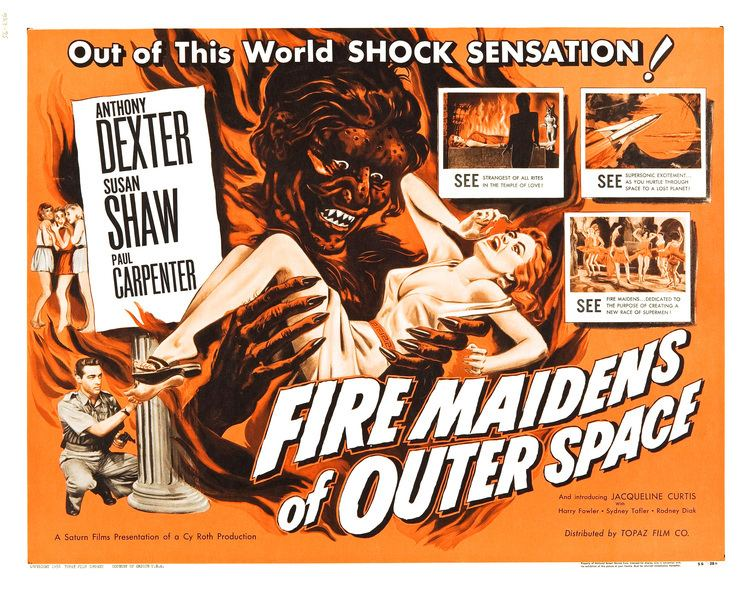 Fire Maidens from Outer Space Poster for Fire Maidens of Outer Space 1956 UK Wrong Side of
