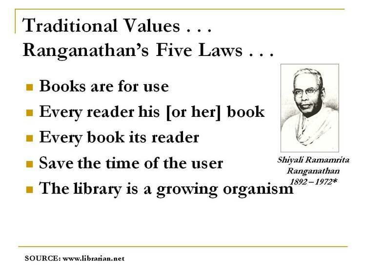 Five laws of library science TL v59n2Traditional ValuesChanging Times Tennessee Library