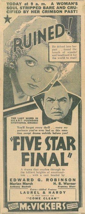Five Star Final Five Star Final 1931