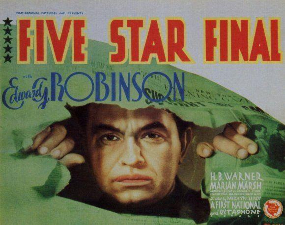 Five Star Final Five Star Final 1931 Review PreCodeCom