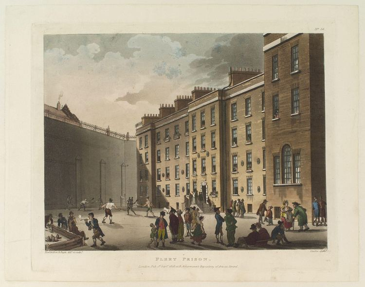 Fleet Prison FileFleet Prison by Thomas Rowlandson and Augustus Puginjpg