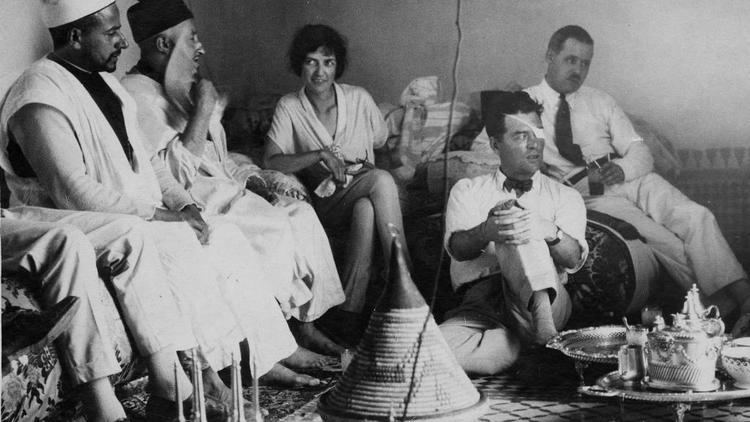 Floyd Gibbons Rosemary Drachman with Floyd Gibbons in Morocco 1925