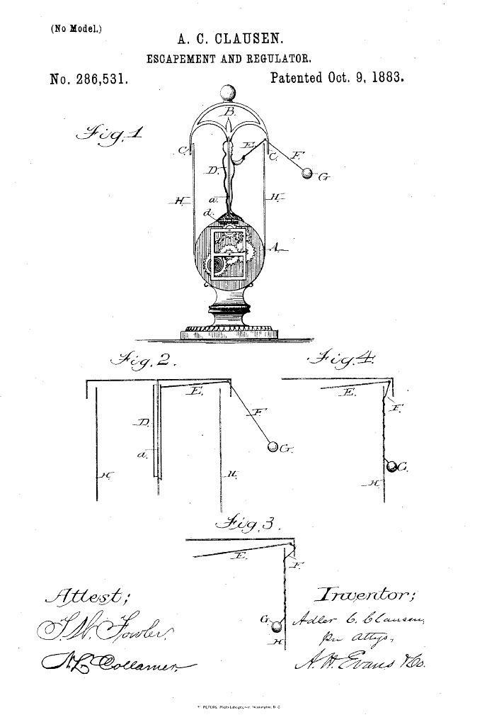 Flying pendulum clock