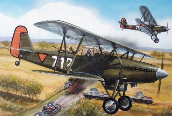 Fokker C.X Netherlands biplane Fokker CX Dutch Air Force AZModel 7238