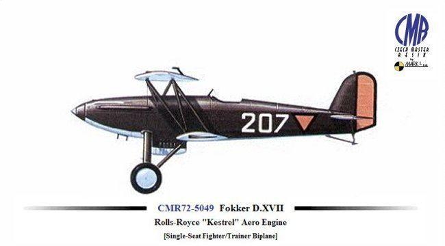 Fokker D.XVII Czech Master Resin 172 Fokker DXVII RollsRoyce quotKestrelquot Aero