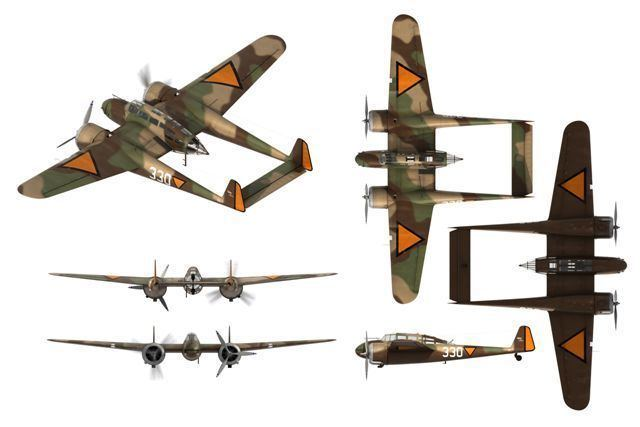 Fokker G.I WINGS PALETTE Fokker GI Faucher Netherlands
