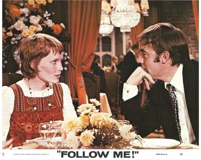 Follow Me! (1972 film) MIA FARROW MICHAEL JAYSTON in The Public Eye aka Follow Me
