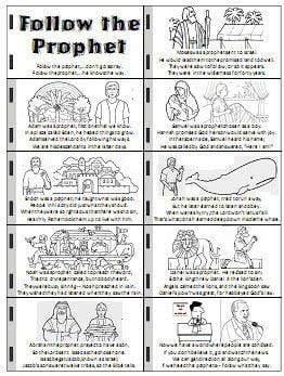 Follow the Prophet I will follow the prophet handout and flipchart