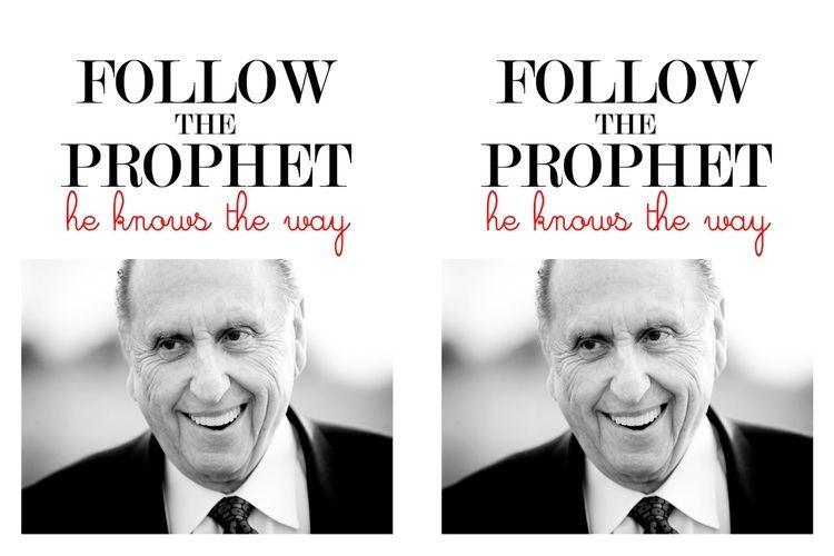 Follow the Prophet My Craft Journal Follow the Prophet Handout