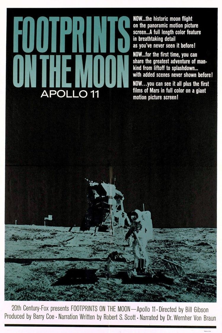 Entertainment Memorabilia Footprints On The Moon Original Apollo 11 Rare Poster