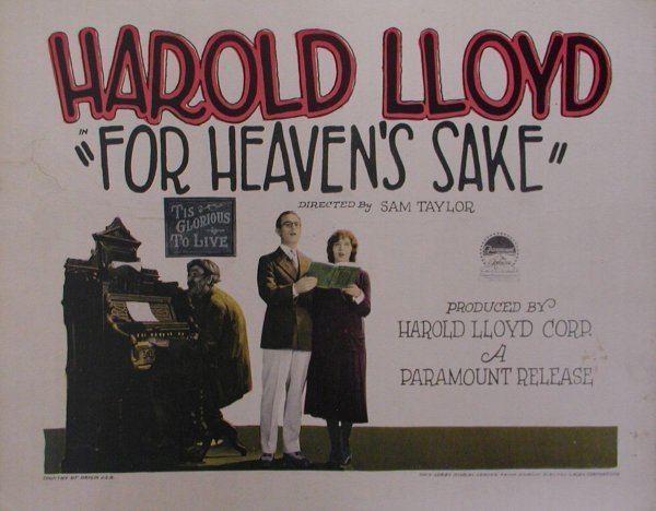 For Heaven's Sake (1926 film) Lauras Miscellaneous Musings Tonights Movie For Heavens Sake 1926