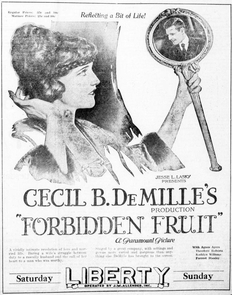 Forbidden Fruit (1921 film) FileForbiddenfruit1921newspaperjpg Wikimedia Commons