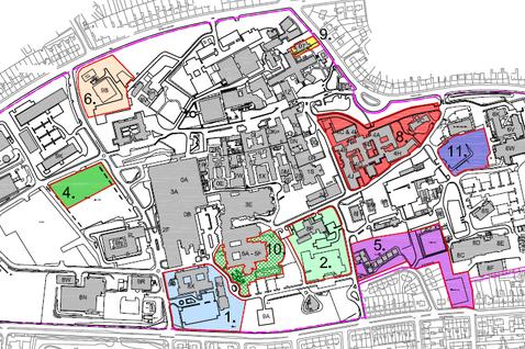Foresterhill NHS Grampian lodges 150m Foresterhill plan