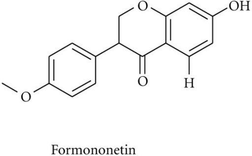 Formononetin Chemical structure of formononetin Openi