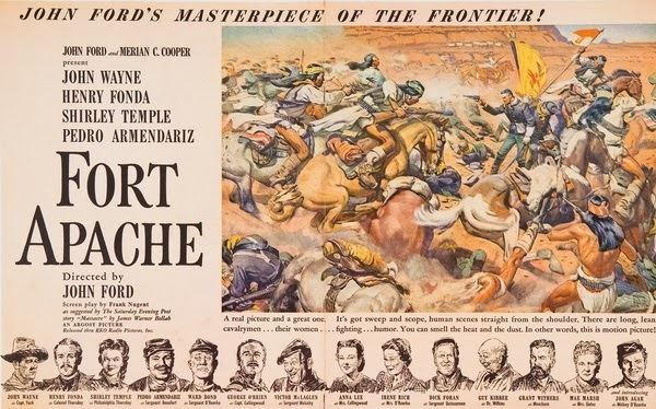 Fort Apache (film) movie scenes The film s triumphant huzzahs to the U S Cavalry have a tinge of melancholy to them as York s words are matched by a shot of riding troops in a pane of