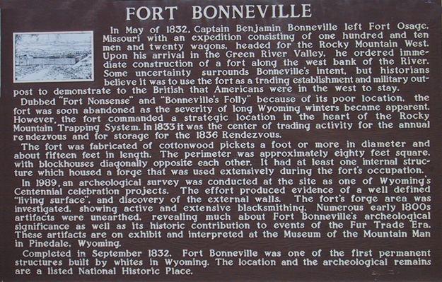 Fort Bonneville Fort Bonneville Thefurtrappercom