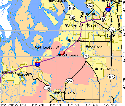 Fort Lewis Fort Lewis Washington WA 98439 98580 profile population maps