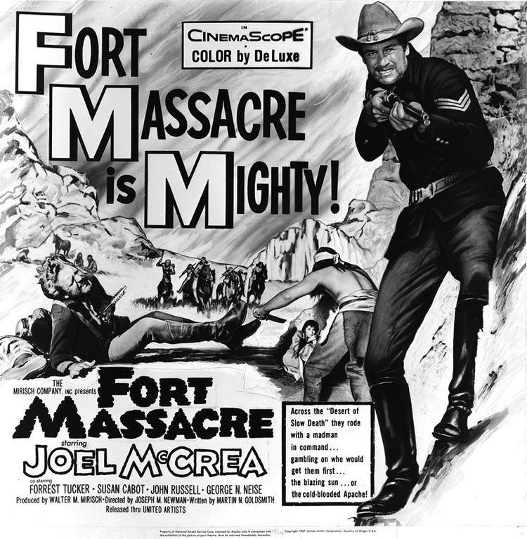 Fort Massacre 50s Westerns Bluray News 184 Fort Massacre 1958 50 Westerns