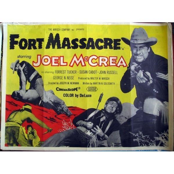 Fort Massacre Fort Massacre 1958 Original British Quad