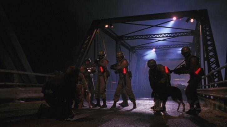 Fortress (1993 film) movie scenes Fortress toys with some good ideas but never makes use of any of them for reasons other than advancing towards the next action scene