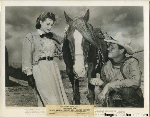 Four Faces West Joel McCrea and Frances Dee in Four Faces West 1948 vintage still