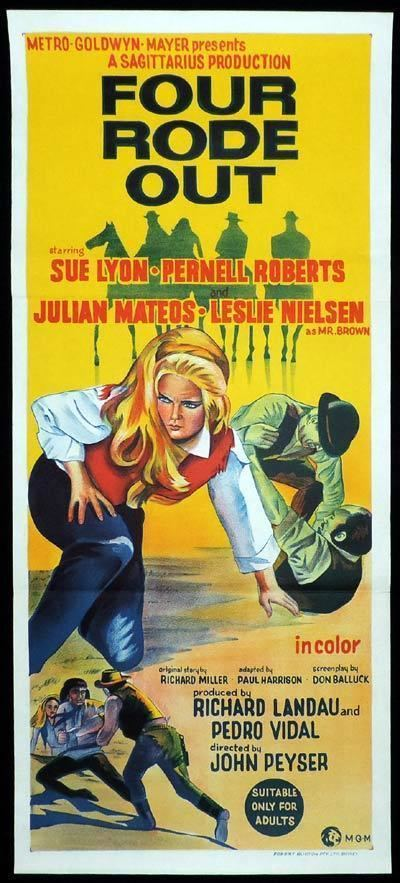 Four Rode Out FOUR RODE OUT Original Daybill Movie Poster Sue Lyon Western