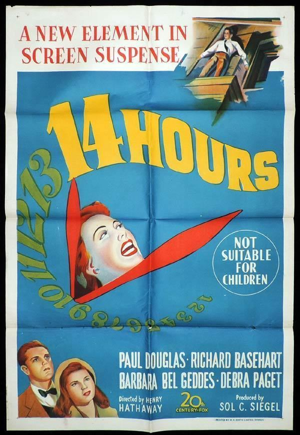 Fourteen Hours 14 HOURS One Sheet Movie Poster Paul Douglas Grace Kelly