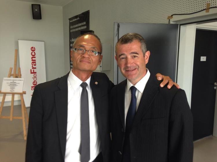 Franck Marlin Le Proviseur avec son ami Franck Marlin Dput Maire d