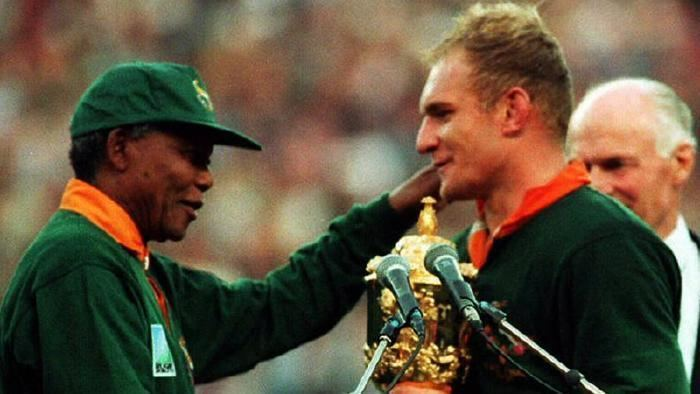 Francois Pienaar Jonah Lomu tributes World Cupwinning Springboks captain Francois