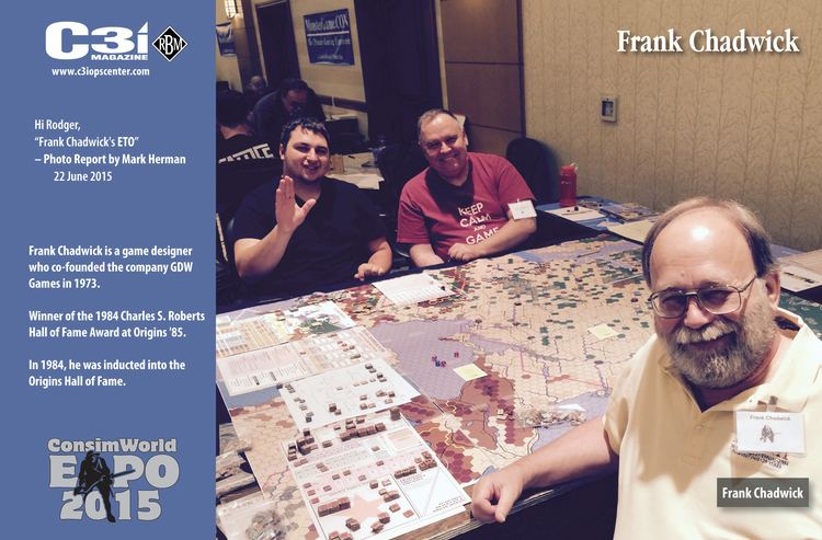 Frank Chadwick Game Designer Frank Chadwick CSW Expo 2015 C3i Report by Mark