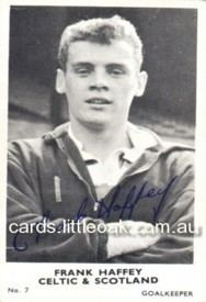 Frank Haffey cardslittleoakcomau196263abcplainbacksscott