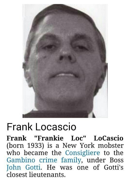 Frank Locascio Frank LocascioJN TREASURED HISTORY MAFIA Pinterest