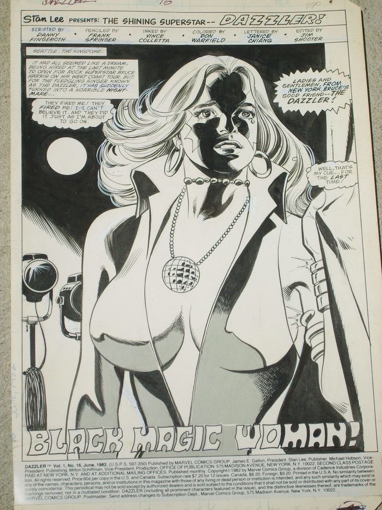 Frank Springer rfcomicart39s Comic Art Dazzler Splash page Frank
