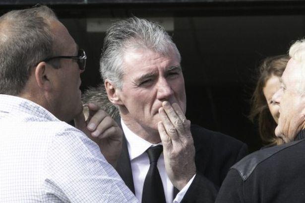 Frank Stapleton Frank Stapleton mourns at his fathers funeral Irish Mirror Online