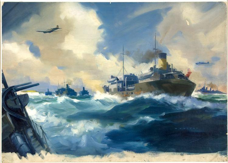 Frank Wootton (artist) FileINF329 Convoy scene Artist Frank Wootton 19391946