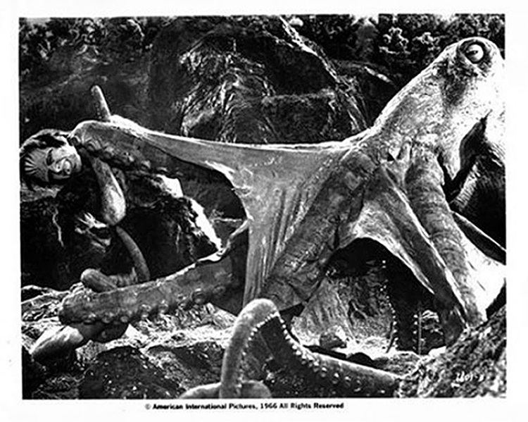 Frankenstein Conquers the World movie scenes The first real extra of the set is the International cut of the film Frankenstein vs Baragon which includes the giant octopus scene eliminated from