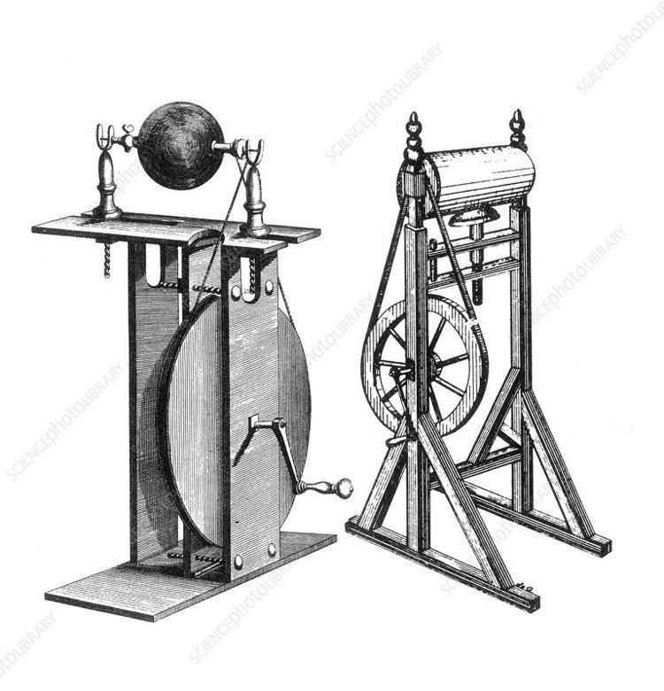 Franklin's Electrostatic Machine, 18th Century