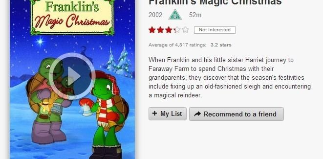 Franklin's Magic Christmas 12 Days of Netflix Franklins Magic Christmas Day 5 VODzillaco