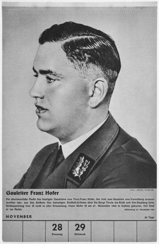 Franz Hofer Portrait of Gauleiter Franz Hofer One of a collection of